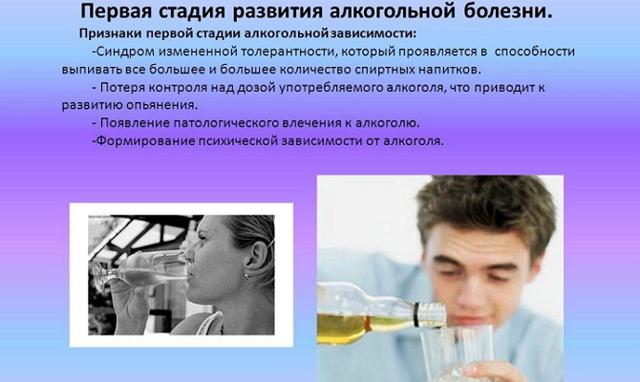 Описание алкогольной зависимости в 1, 2 и 3 стадии алкоголизма
